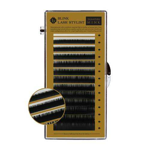 Nerzwimpern Ultra Weich - C-Curl 7~14mm - Mix-Box