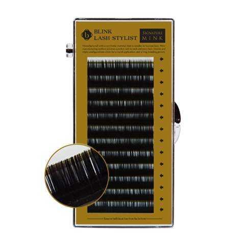 Volumenwimper-Nerzwimpern Ultra Weich Premium XD-3D - C-Curl 0.07x9mm