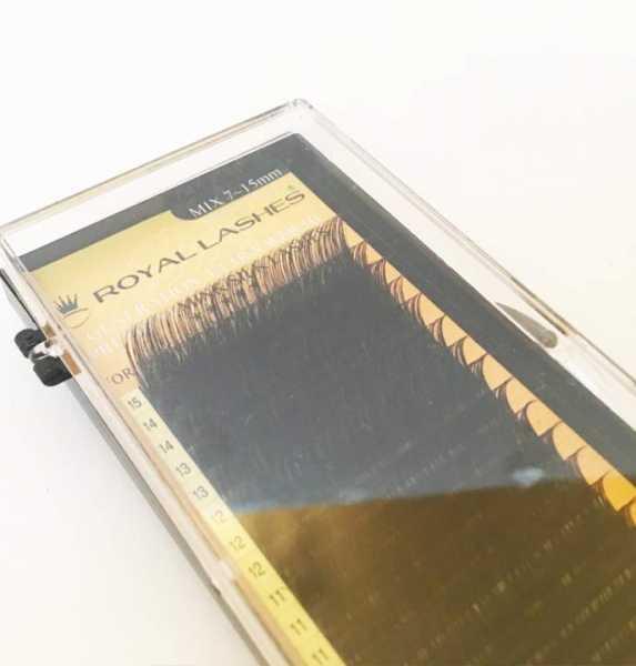 Volumenwimper-Nerz-/Seidenwimpern Premium xD-3D/4D - C/0.20x7~15mm - Mix-Box 4200St.